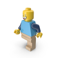 Lego Man Walking PNG & PSD Images