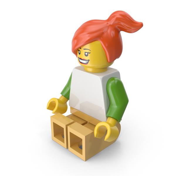 Lego Woman Sitting Object