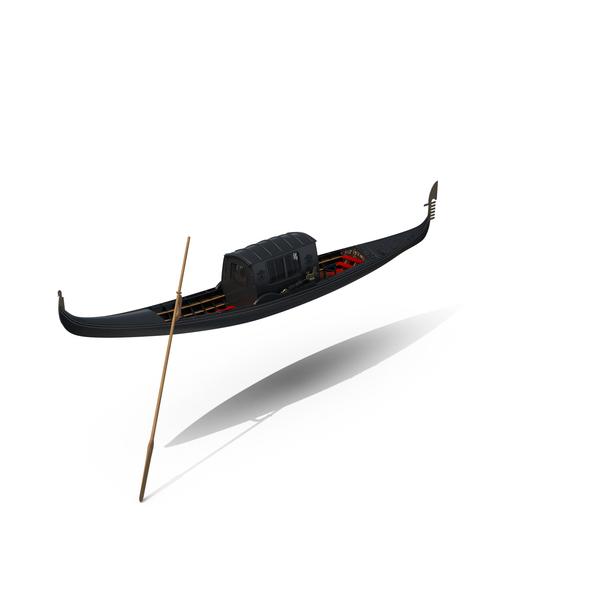 Venisian  Gondola  With Roof Object