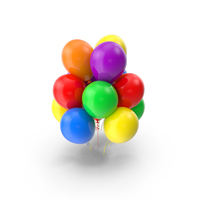 Multicolor Balloons PNG & PSD Images
