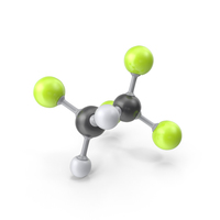 Tetrafluoroethane Molecule PNG & PSD Images