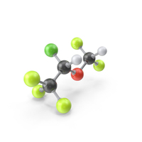 Isoflurane Molecule PNG & PSD Images