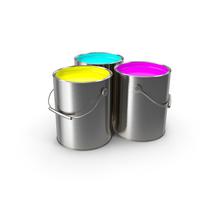 Paint Cans CMY PNG & PSD Images