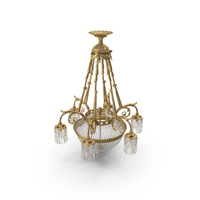19th Century French Louis XVI Antique Crystal Chandelier PNG & PSD Images