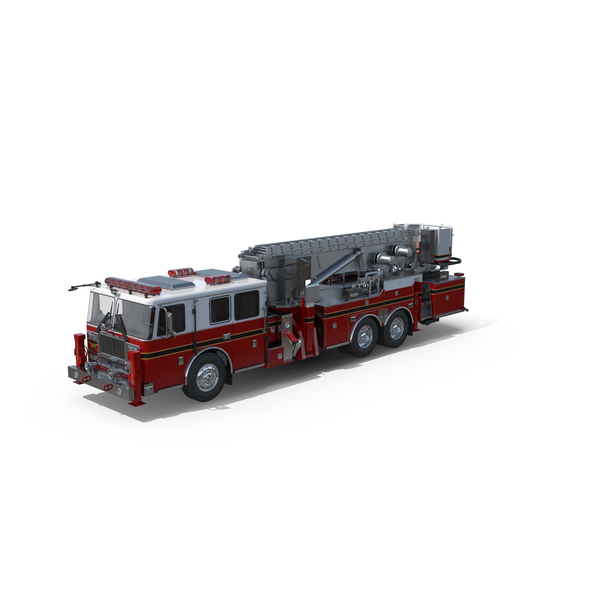 Red  Seagrave Fire Truck Object