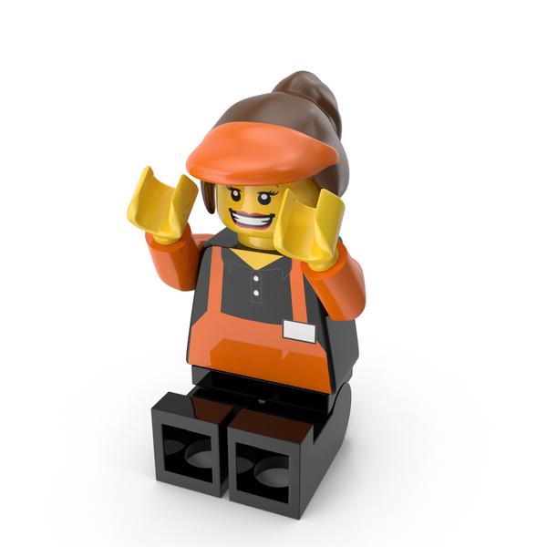 Lego Woman Cashier Object