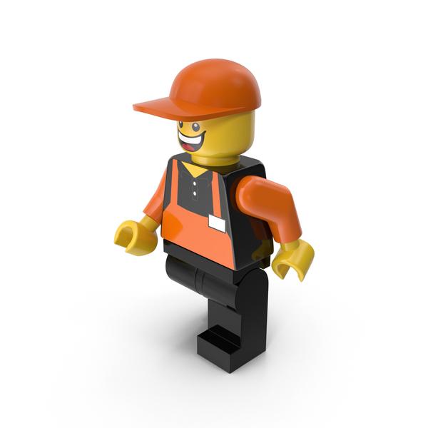 Lego Man Cashier Walking Object
