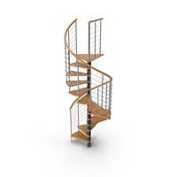 Spiral Contemporary Stair PNG & PSD Images
