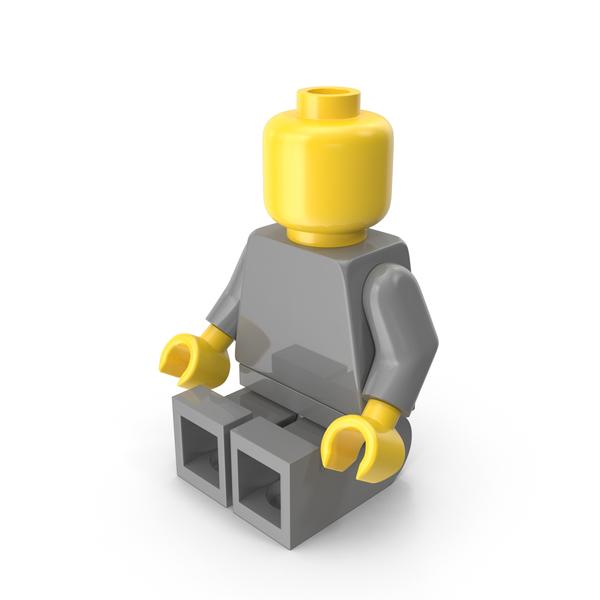 Neutral Lego Man Sitting Object