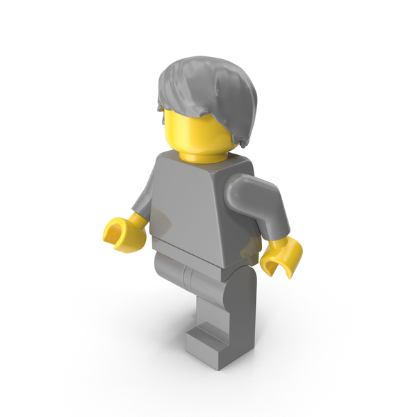 Neutral Lego Man With Hair Object
