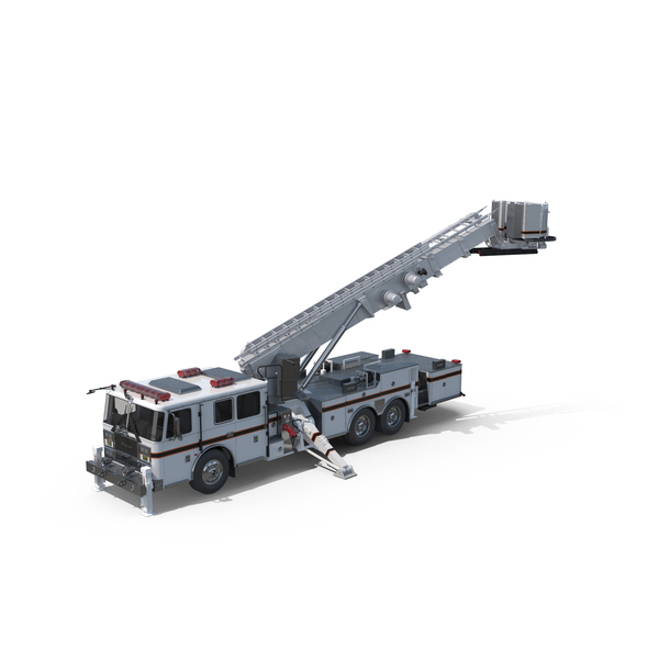 White Seagrave Fire Truck Object