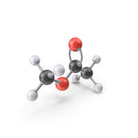 Methyl Acetate Molecule PNG & PSD Images