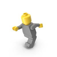 Neutral Lego Man Running PNG & PSD Images