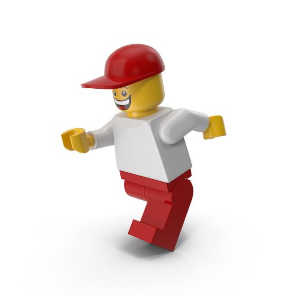 Lego Man Cap Running Object