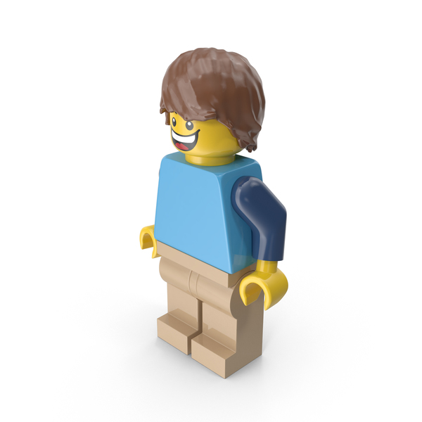 Lego Man With Hair Object