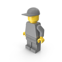 Neutral Lego Man Cap Arms Down PNG & PSD Images