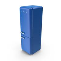 Smeg Dark Blue Refrigerator PNG & PSD Images