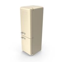 Smeg Brand Refrigerator in Cream PNG & PSD Images