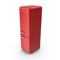 Smeg Red Refrigerator PNG & PSD Images