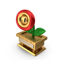 Fire Flower Trophy PNG & PSD Images