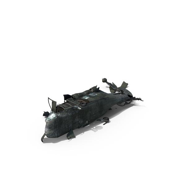 Crashed EH-60 Black Hawk Helicopter PNG & PSD Images