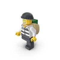 Lego Criminal with Money Bag PNG & PSD Images