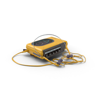 80's Sport Walkman PNG & PSD Images