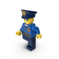 Lego Police Officer Walking PNG & PSD Images