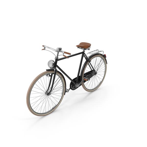 Black Vintage Bicycle Object