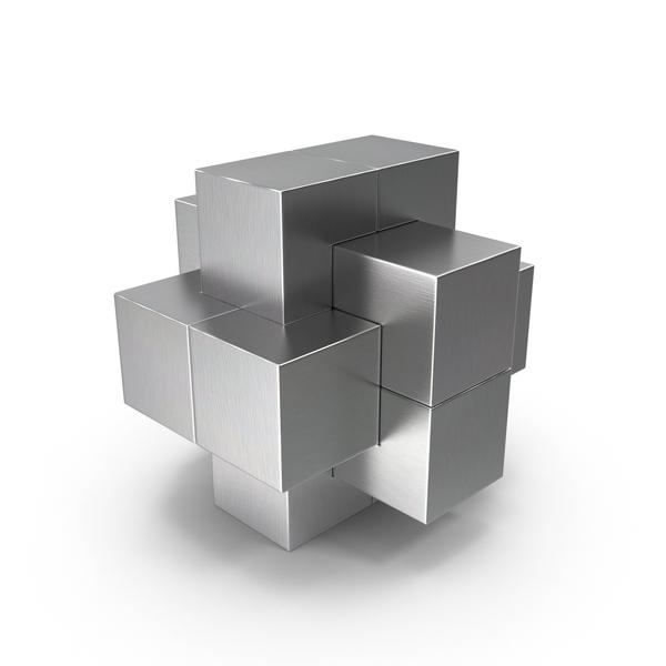 Metallic Puzzle Object