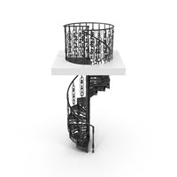 Black Victorian Spiral Iron Staircase PNG & PSD Images