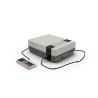 Nintendo NES Console PNG & PSD Images