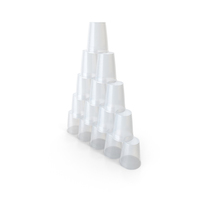 Plastic Cups Pyramid PNG & PSD Images
