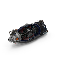 Turboprop Aircraft Engine Canada PT6 Sectioned PNG & PSD Images