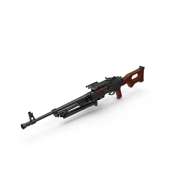 Machine Gun PKM Aimed PNG & PSD Images