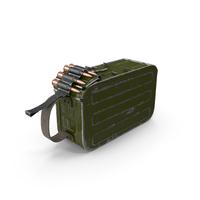 Machine Gun 100 Round Ammunition Box PNG & PSD Images