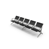 Airport Row of Chairs PNG & PSD Images