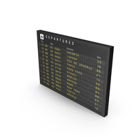 New Flight Information Sign PNG & PSD Images