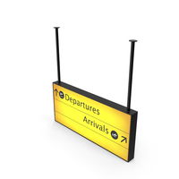 Airport Departure and Arrival Sign PNG & PSD Images