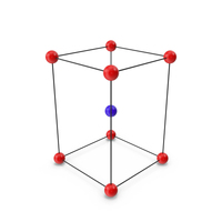 Body Centered  Tetragonal Crystal Lattice Structure PNG & PSD Images