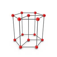 Hexagonal Crystal Lattice Structure PNG & PSD Images