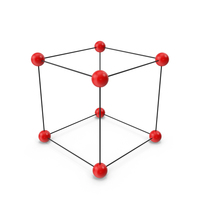 Simple Crystal Cubic Lattice Structure PNG & PSD Images