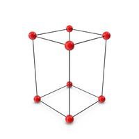 Simple Tetragonal Crystal Lattice Structure PNG & PSD Images