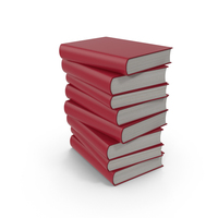 Red Book Stack PNG & PSD Images
