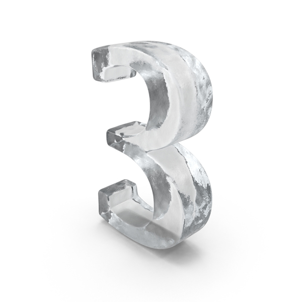Ice Number 3 PNG & PSD Images