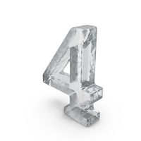Ice Number 4 PNG & PSD Images