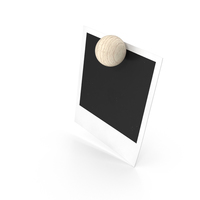 Blank Picture Held by Magnet PNG & PSD Images