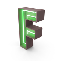 Neon Letter F PNG & PSD Images
