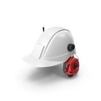 Hard Hat  & Alert Headset PNG & PSD Images