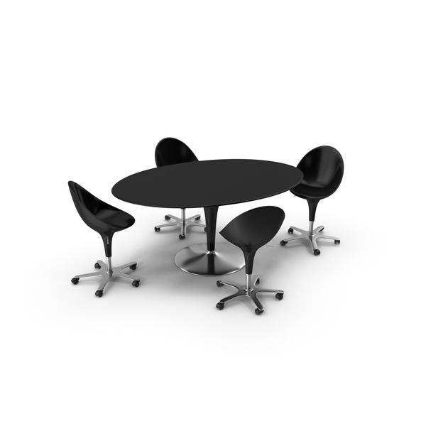 Big Bombo Table Set Black PNG & PSD Images